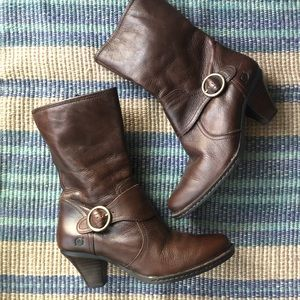 Born Buckle Leather Boots
